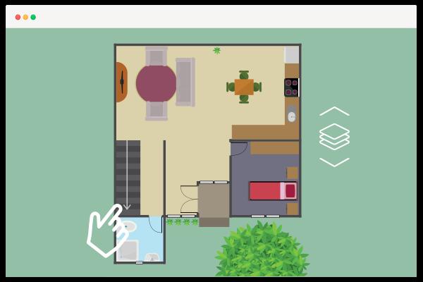 Ejemplo plano interactivo varias plantas